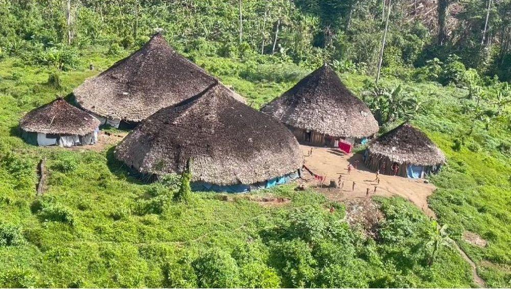Comunidade na Terra Indígena Yanomami — Foto: Junior Hekurari Yanomami/Condisi-YY